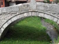 Sous l'arche d'un pont de pierre renaît le printemps, vere novo...