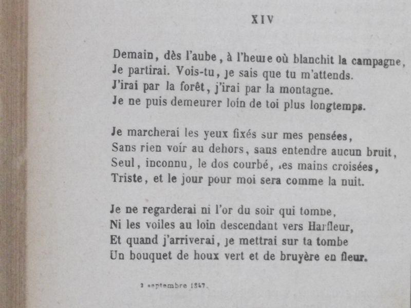 Demain Dès Laube Les Contemplations Victor Hugo
