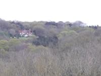 Mon rêve familier se cache derrière un taillis d'où l'on aperçoit une maison perdue dans la nature.