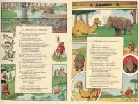"""Reproduction de pages du Florian illustré par Benjamin Rabier, avec """"La carpe et les carpillons""""."""