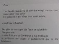 Photo de textes d'Apollinaire où n'apparaît pas la Loreley mais sa probloque.